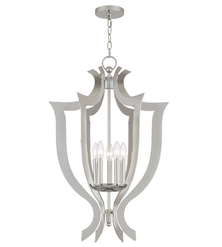 Livex 41004 05 Aldrich 5 Light 21 Inch Polished Chrome Lantern Chandelier Ceiling