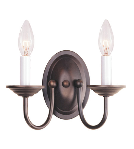 Livex 4152-07 Home Basics 2 Light 10 inch Bronze Wall Sconce Wall Light photo