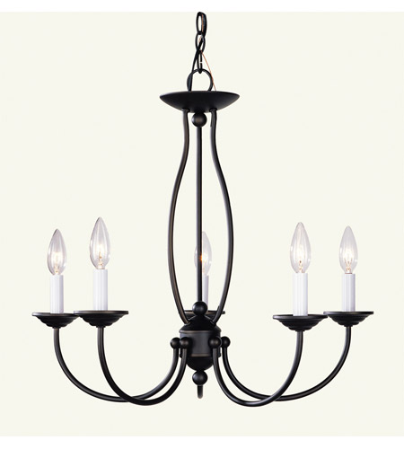 Livex 4155-07 Home Basics 5 Light 23 inch Bronze Chandelier Ceiling Light photo