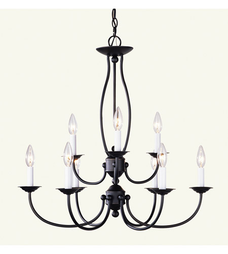 Livex 4159-07 Home Basics 9 Light 26 inch Bronze Chandelier Ceiling Light photo