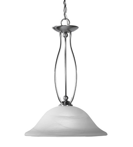Livex Lighting Home Basics 1 Light Pendant in Brushed Nickel 4162-91 photo