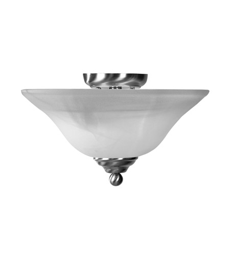 Livex Nickel Home Basics Semi-Flush Mounts
