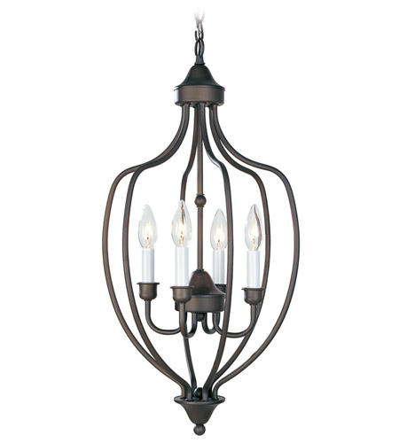 Livex 4171-07 Home Basics 4 Light 13 inch Bronze Foyer Pendant Ceiling Light photo