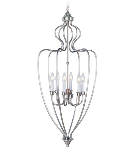 Livex Lighting Home Basics 6 Light Foyer Pendant in Brushed Nickel 4174-91 photo