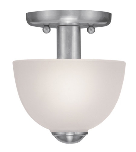 Livex 4190-91 Somerset 1 Light 7 inch Brushed Nickel Ceiling Mount Ceiling Light photo