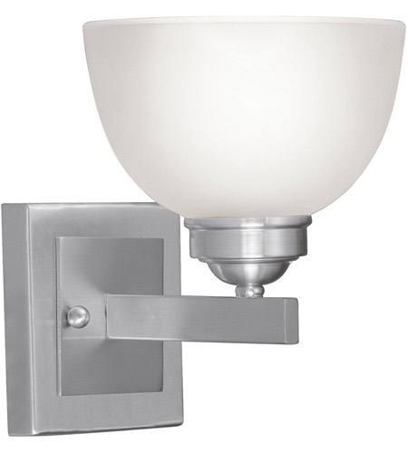 Livex Lighting Somerset 1 Light Bath Light in Brushed Nickel 4201-91 photo