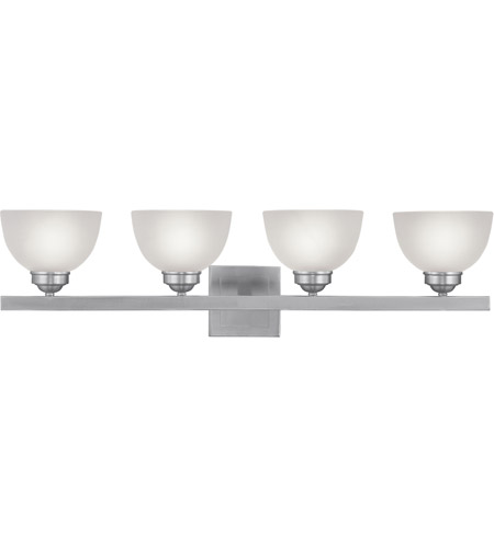 Livex 4204-91 Somerset 4 Light 34 inch Brushed Nickel Bath Light Wall Light photo