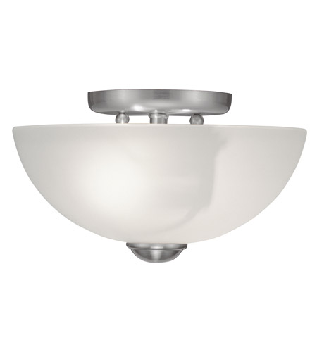 Livex Lighting Somerset 2 Light Ceiling Mount in Brushed Nickel 4206-91 photo