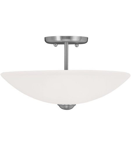 Livex Lighting Somerset 2 Light Ceiling Mount in Brushed Nickel 4208-91 photo