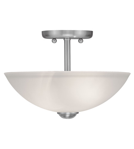 Livex Lighting Somerset 2 Light Ceiling Mount in Brushed Nickel 4209-91 photo