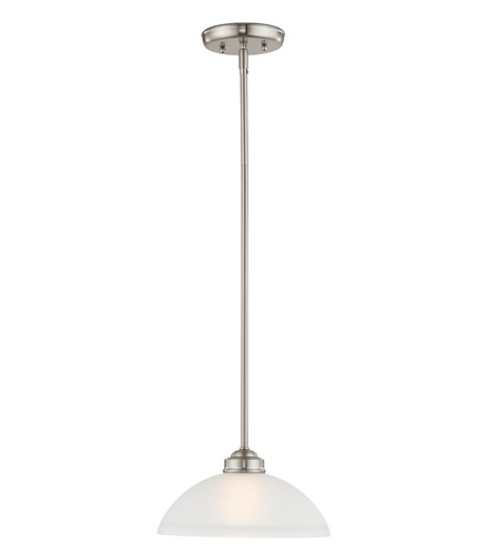 Livex 4211-91 Somerset 1 Light 11 inch Brushed Nickel Pendant Ceiling Light photo