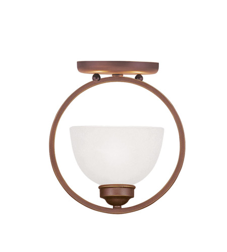 Livex Lighting Somerset 1 Light Ceiling Mount in Vintage Bronze 4217-70 photo