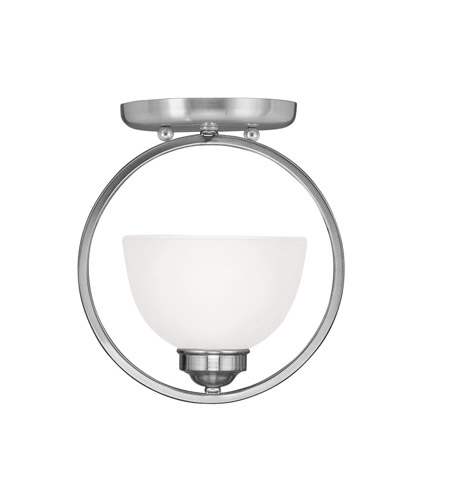Livex Lighting Somerset 1 Light Ceiling Mount in Brushed Nickel 4217-91 photo