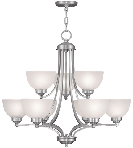 Livex Lighting Somerset 9 Light Chandelier in Brushed Nickel 4219-91 photo