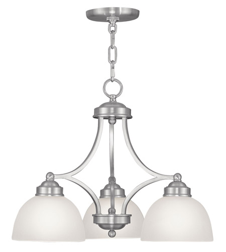 Livex 4223 91 somerset 3 light 20 inch brushed nickel chandelier livex 4223 91 somerset 3 light 20 inch brushed nickel chandelier ceiling light aloadofball Image collections