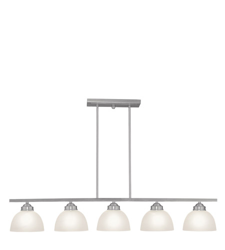 Livex Lighting Somerset 5 Light Island Light in Brushed Nickel 4227-91 photo