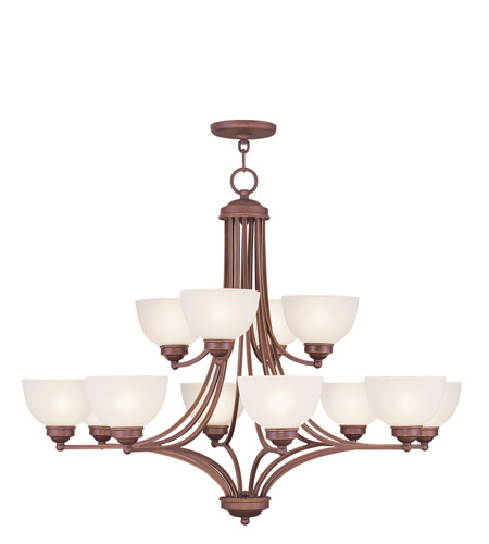 Livex Lighting Somerset 12 Light Chandelier in Vintage Bronze 4228-70 photo