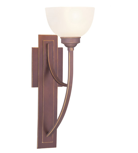 Livex Lighting Somerset 1 Light Wall Sconce in Vintage Bronze 4230-70 photo