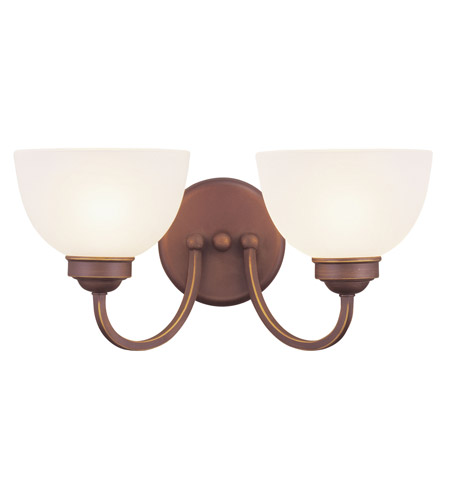 Livex 4232-70 Somerset 2 Light 16 inch Vintage Bronze Bath Light Wall Light photo