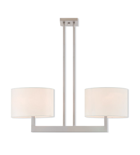 Brushed Nickel Hayworth Island Lights
