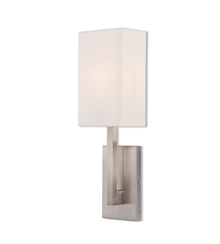 Livex 42411-91 Hayworth 1 Light 6 inch Brushed Nickel ADA Wall Sconce Wall Light photo