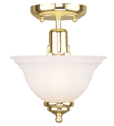 Livex Lighting North Port 1 Light Ceiling Mount in Polished Brass 4250-02 photo
