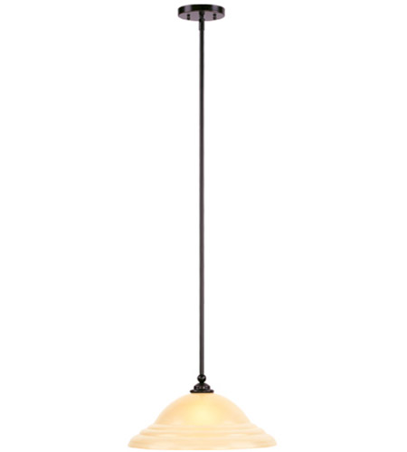 Livex 4251-67 North Port 1 Light 16 inch Olde Bronze Pendant Ceiling Light in Iced Champagne photo