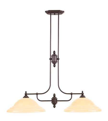 Livex Lighting North Port 2 Light Island Light in Olde Bronze 4252-67 photo