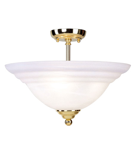 Livex Lighting North Port 3 Light Ceiling Mount in Polished Brass 4258-02 photo