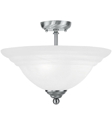 Livex Lighting North Port 3 Light Ceiling Mount in Brushed Nickel 4258-91 photo