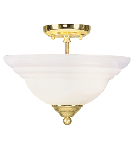 Livex Lighting North Port 2 Light Ceiling Mount in Polished Brass 4259-02 photo