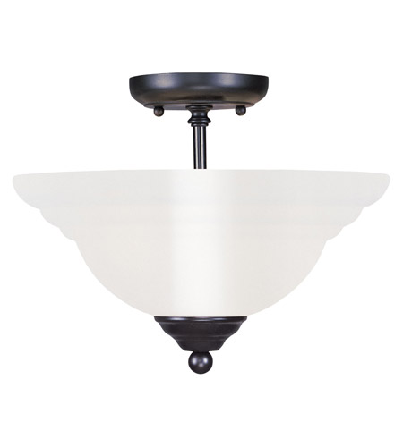 Livex 4259-04 North Port 2 Light 13 inch Black Ceiling Mount Ceiling Light photo