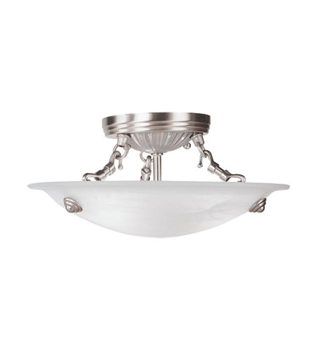 Livex 4272-91 Coronado 3 Light 12 inch Brushed Nickel Ceiling Mount Ceiling Light photo