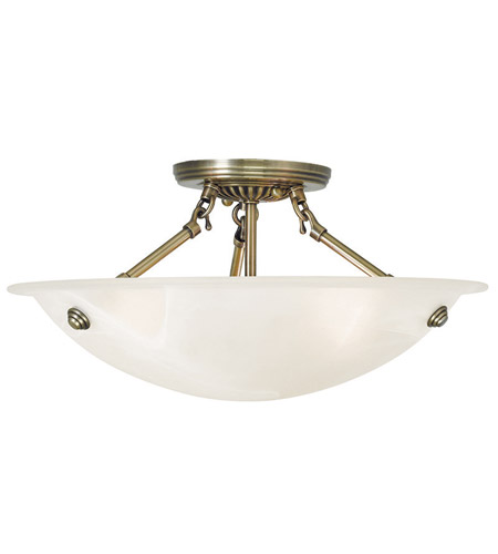 Livex 4273 01 oasis 3 light 16 inch antique brass flush mount livex 4273 01 oasis 3 light 16 inch antique brass flush mount ceiling light in white alabaster mozeypictures Gallery