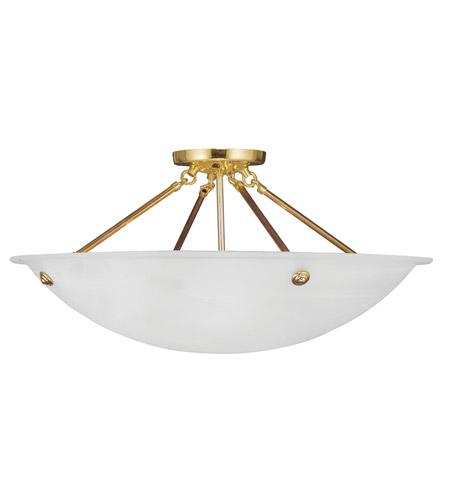 Livex 4275-02 Home Basics 4 Light 24 inch Polished Brass Ceiling Mount Ceiling Light photo