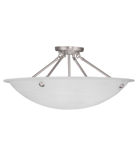 Livex Lighting Home Basics 4 Light Ceiling Mount in Brushed Nickel 4275-91 photo