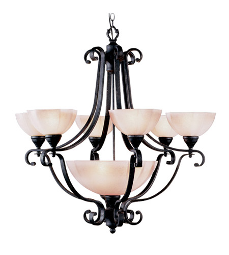 Livex Lighting Homestead 7 Light Chandelier in Distressed Iron 4336-54 photo