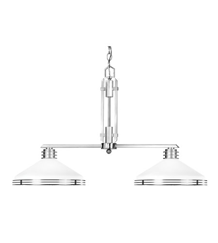 Livex Matrix 2 Light Chandelier in Brushed Nickel 4352-91 photo