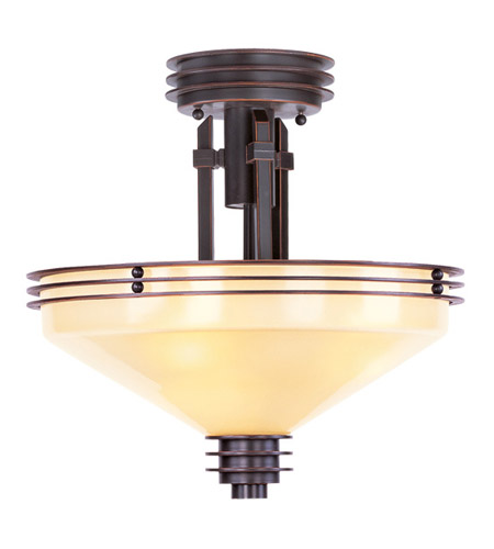 Livex 4365-67 Matrix 3 Light 14 inch Olde Bronze Semi-Flush Mount Ceiling Light in Iced Champagne photo