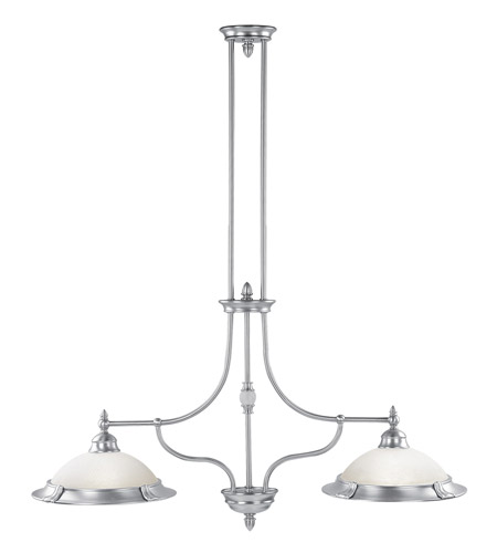Livex Lighting Belle Meade 2 Light Chandelier in Brushed Nickel 4372-91 photo