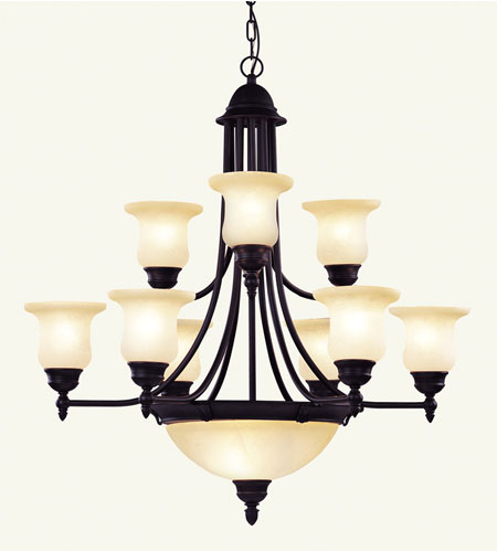 Livex Lighting Belle Meade 9 Light Chandelier in Bronze 4379-07 photo