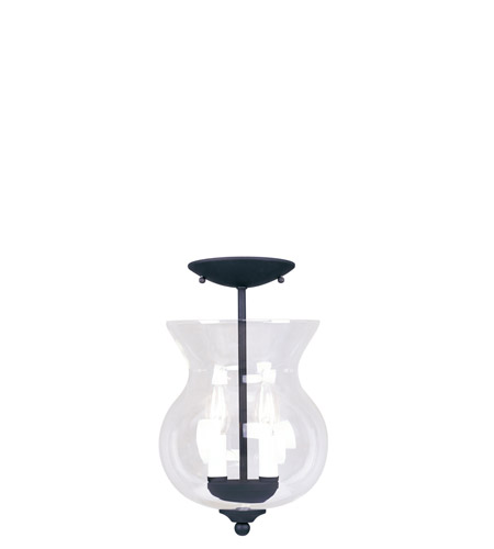 Livex 4393-04 Heritage 2 Light 8 inch Black Pendant/Ceiling Mount Ceiling Light alternative photo thumbnail