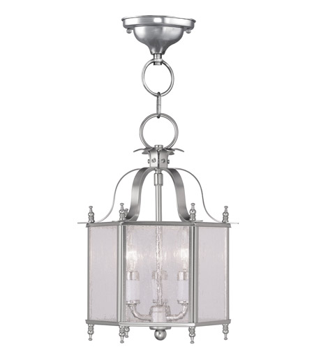Livex 4397-91 Legacy 3 Light 10 inch Brushed Nickel Pendant/Ceiling Mount Ceiling Light photo