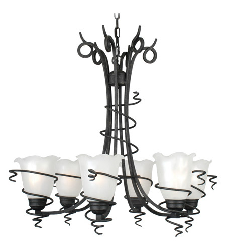 Livex Lighting Empire 6 Light Chandelier in Distressed Iron 4446-54 photo