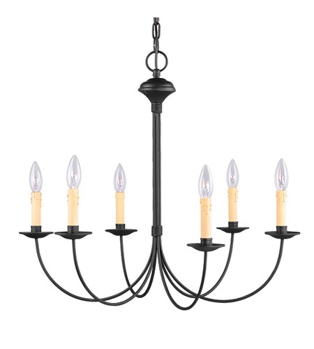 Livex 4456-04 Heritage 6 Light 26 inch Black Chandelier Ceiling Light photo