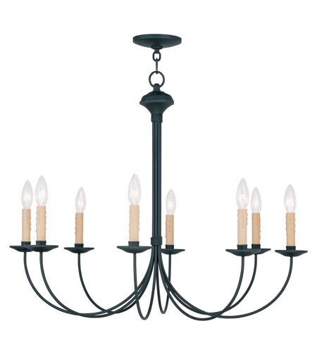 Livex Lighting Heritage 8 Light Chandelier in Black 4457-04 photo