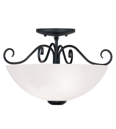 Livex 4461-04 Heritage 2 Light 15 inch Black Ceiling Mount Ceiling Light photo