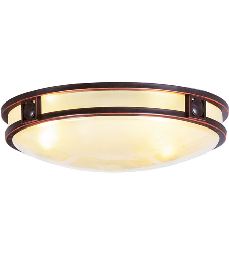 Livex Lighting Matrix 3 Light Ceiling Mount in Olde Bronze 4488-67 photo