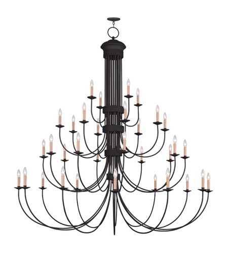 Livex 4538-04 Heritage 34 Light 72 inch Black Chandelier Ceiling Light photo