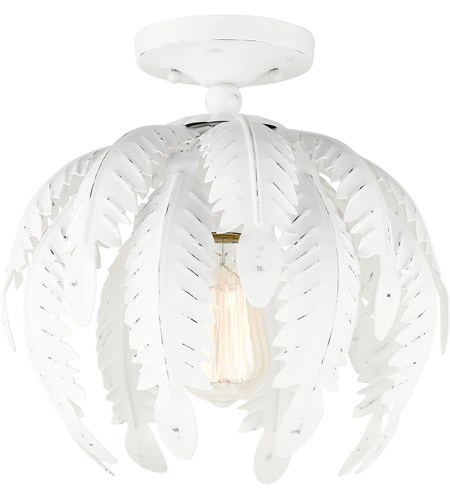 Livex 46231-60 Acanthus 1 Light 13 inch Antique White Semi Flush Ceiling Light photo thumbnail